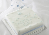 Blue Christening Star 3D Cake