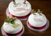 Hand decorated Christmas Cakes