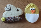 Bunny and Chick Biscuit